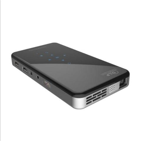 X2 (1+8G) DLP Android 7.1Smart Mini Projector X2 With Sliding Lens Cover Wifi Mini Projector (Black) EU