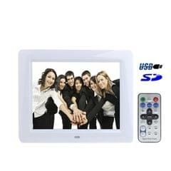 8 inch Digital Picture Frame with Remote Control / Rechargeable Battery (2300mAh)(White)