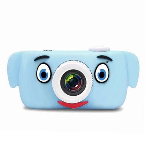 D3 PLUS 1200W Pixel Lens Elephant Cartoon Mini Digital Sport Camera with 2.0 inch Screen for Children (Blue)