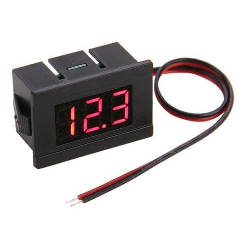 V33D 2 Wires Red Light Display Mini Digital Voltage Meter, Measure Voltage: DC 4.5-120V