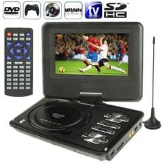NS-789 7.0 inch TFT LCD Screen Digital Multimedia Portable EVD / DVD with Card Reader & USB Ports, Support Analog TV (PAL / NTSC / SECAM) & Game Function, 270 Degree Rotation, Support SD / MS / MMC Card, Black(Black)