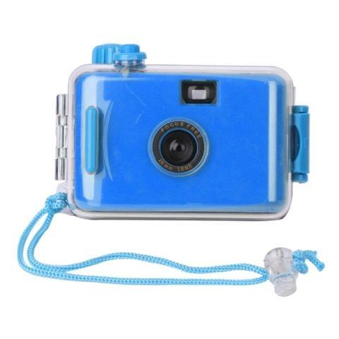 SUC4 5m Waterproof Retro Film Camera Mini Point-and-shoot Camera for Children (Dark Blue)