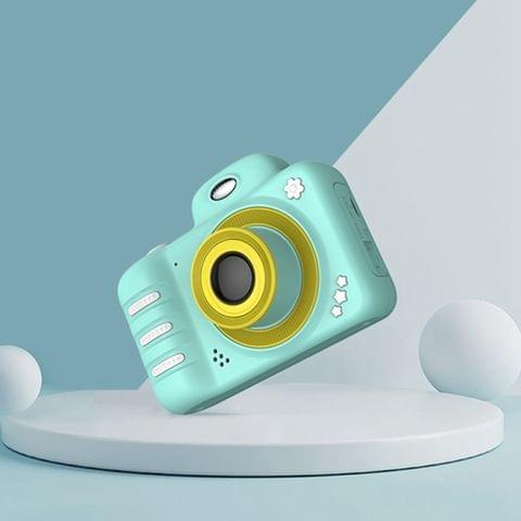 1909 2.4 inch 1800W Pixels Dual Lens Large Screen Digital Camera for Children, Support 32GB TF Card (Green)