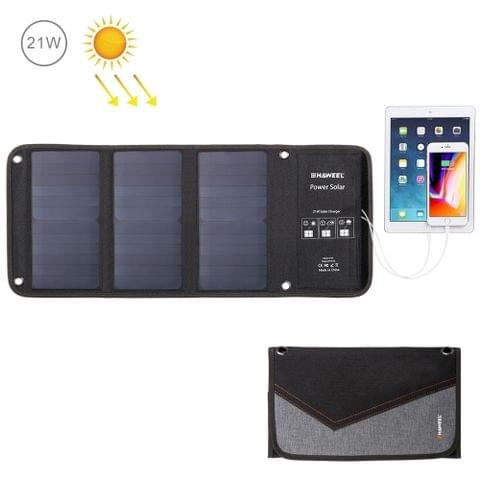 HAWEEL 21W Foldable Solar Panel Charger with 5V 2.9A Max Dual USB Ports                                               ()