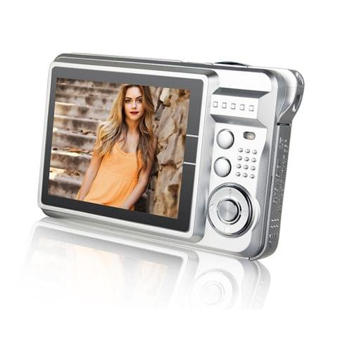 21M Pixels Children Digital Camera 2.7 inch Color Display Card Style Digital Photo Video Record  Camera HD 8x Zooming Smart Automatic Camera(Silver)