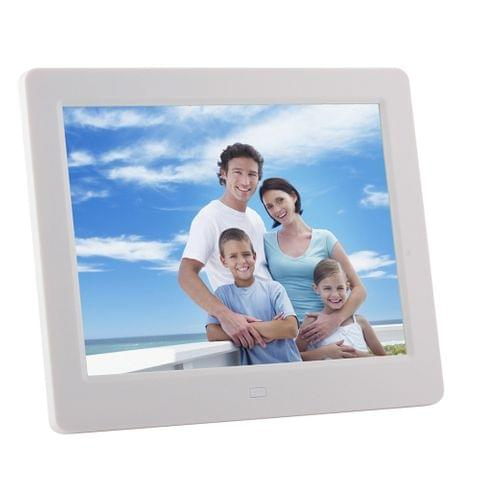 8 inch LED Display Multi-media Digital Photo Frame with Holder & Music & Movie Player, Support USB / SD / SDHC / MMC Card Input(Silver)