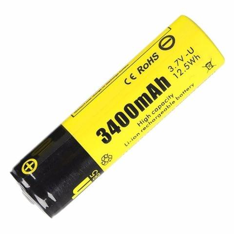 SupFire AB5 3400mAh 18650 Lithium Rechargeable Battery, PCB Protected