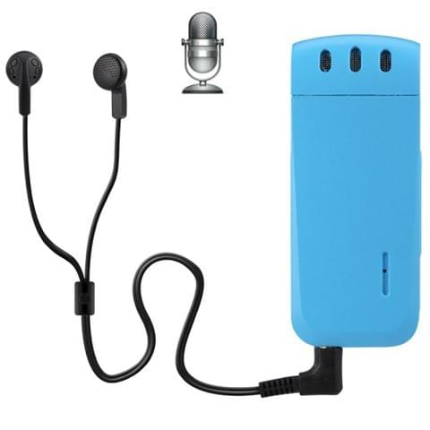 WR-16 Mini Professional 16GB Digital Voice Recorder with Belt Clip, Support WAV Recording Format(Blue)