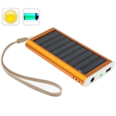 1350mAh Solar Charger for Mobile phone, Digital camera, PDA, MP3/MP4 Player (Orange)