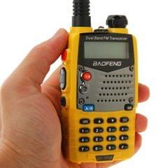 BAOFENG UV-5RA Professional Dual Band Transceiver FM Two Way Radio Walkie Talkie Transmitter(Yellow)