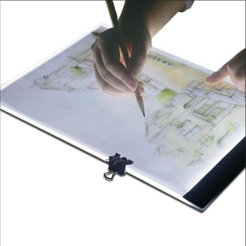 Ultra-thin A4 Size Portable USB LED Artcraft Tracing Light Box Copy Board for Artists Drawing Sketching Animation and X-ray Viewing