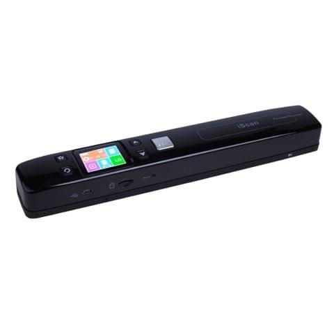 iScan02 Double Roller Mobile Document Portable Handheld Scanner with LED Display,  Support 1050DPI  / 600DPI  / 300DPI  / PDF / JPG / TF(Black)