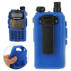 Pure Color Silicone Case for UV-5R Series Walkie Talkies(Blue)