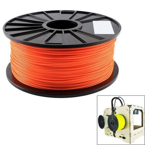 PLA 1.75 mm Fluorescent 3D Printer Filaments, about 345m(Orange)