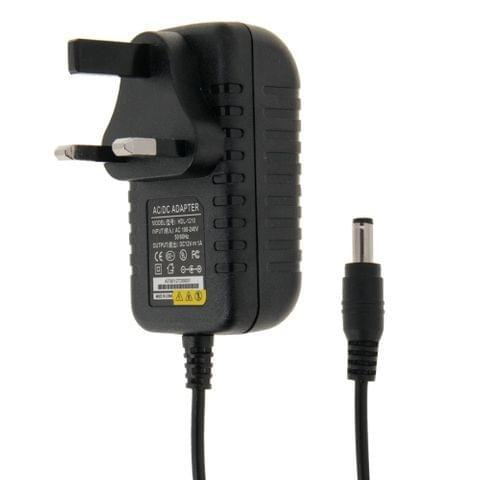 UK Plug AC 100-240V to DC 12V 1A Power Adapter, Tips: 5.5 x 2.1mm, Cable Length: about 90cm(Black)