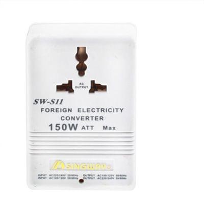US Plug Adapter,150W Power Converter AC117V to AC230V(White)