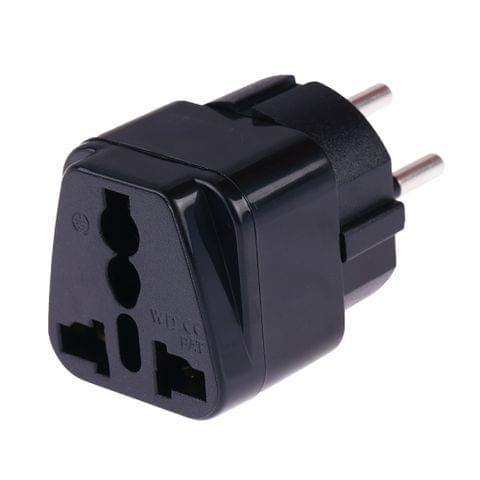 Portable Universal Socket to Israel Plug Power Adapter Travel Charger (Black)