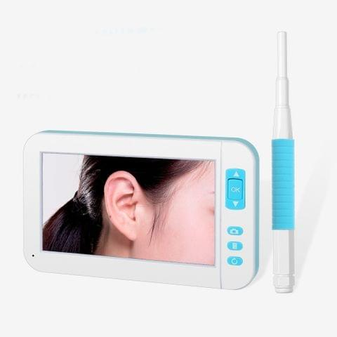 P20 4.3 Inch Screen Display HD1080P Visual Earspoon Endoscope with 6 LEDs, Diameter:5.5mm