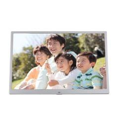 15-inch Digital Photo Frame Electronic Photo Frame Ultra-narrow Side Support 1080P Wall-mounted Advertising Machine(Pink)