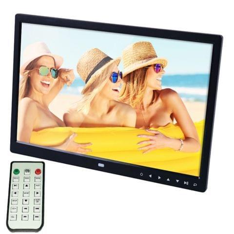 15.0 inch LED Display Digital Photo Frame with Holder / Remote Control, Allwinner, Support USB / SD Card Input / OTG(Black)