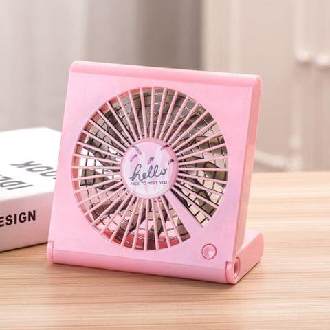 Flamingo Pattern Mini Notebook Folding USB Fan with Wind 3 Speeds