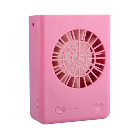 GONGTIAN W910 Portable Multifuncional USB Rechargeable Fans with Neck Strap(Pink)