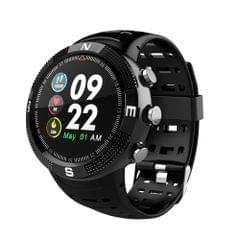 F18 1.3inch IP68 Waterproof Smartwatch Bluetooth 4.2, Support Incoming Call Reminder / Heart Rate Detection / Sleep Monitoring(Black)
