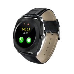 X3 1.33 inch Full IPS Round Touch Screen Bluetooth Smart Watch Phone With SIM Card Slot for Android Smartphones, Support Pedometer / Remote Camera / Sleep Monitoring / Sedentary Reminder / Security Anti-loss Function, etc(Black)