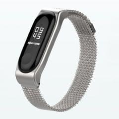 Mijobs Milan SE Metal Strap for Xiaomi Mi Band 3 & 4 Strap Stainless Steel Magnetic Bracelet Buckle Wristbands Replace Accessories, Host not Included(Silver)