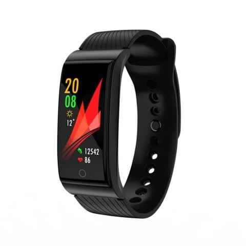 F4 0.96 inch TFT Color Screen Silicone Strap Smartband Smart Bracelet, IP67 Waterproof, Support Sports Mode / Call Reminder / Sleep Monitor / Blood Pressure / Heart Rate Monitor (Black)