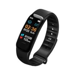 DOMIN0 C1S 0.96 inches IPS Color Screen Smart Bracelet IP67 Waterproof, Support Call Reminder /Heart Rate Monitoring /Blood Pressure Monitoring /Sleep Monitoring /Sedentary Reminder / Remote Control(Black)