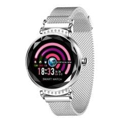 H2 1.04 inch IPS Color Screen Women Smartwatch IP67 Waterproof, Support Call Reminder /Heart Rate Monitoring /Blood Pressure Monitoring/Sleep Monitoring/Predict Menstrual Cycle Intelligently (Silver Grey)