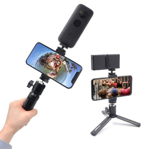 STARTRC Aluminum Tripod Mount + Phone Clamp for Insta360 ONE / ONE X / EVO / DJI Osmo Action