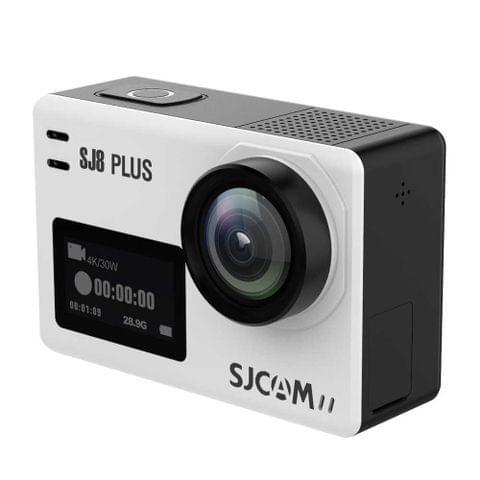 SJCAM SJ8 Plus 4K 2.33 inch Touch Screen 12 MP WiFi Sports Camcorder with Waterproof Case,  Novatek NT96683, 170 Degrees Wide Angle Lens, 30m Waterproof(White)