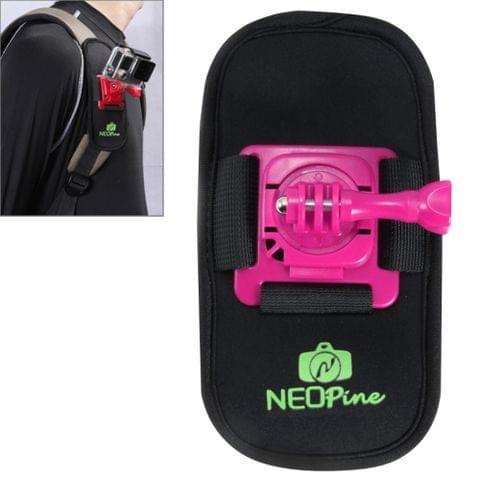 NEOPine Fashionable 360 Degree Rotation Diving Material Camera Belt / Shoulder Harness for GoPro HERO4 /3+ /3 /2 /1,Xiaomi Yi,SJCAM SJ6000 / SJ5000 / SJ5000 WIFI / SJ4000 Sport Camera(Magenta)