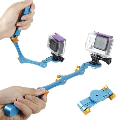 TMC HR209 Foldable Pocket Stabilizer Grip Mount Monopod for GoPro HERO4 /3+ /3 /2(Blue)