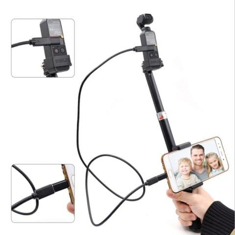 Portable 8 Pin Port Extendable Selfie Stick Folding Self Timer Rod for DJI OSMO Pocket