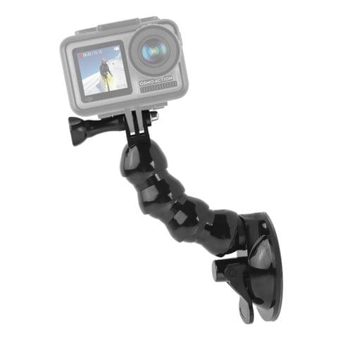 Suction Cup Jaws Flex Clamp Mount for for DJI Osmo Action, GoPro NEW HERO / HERO7 /6 /5 /4, and Other Action Cameras(Black)