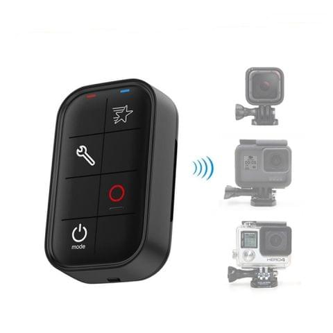 Remote Control for GoPro HERO7 /6 /5 /4 Session /4 /3, Power / Mode Button, Shortcut Button, Shutter / Select Button, Setting Button(Black)