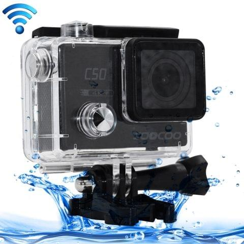 SOOCOO C50 4K HD 2 inch LCD Screen 12MP WiFi Sport Action Camera Camcorder with Waterproof Case, 170 Degrees Wide Angle Lens, Support 64GB Micro SD Card, HDMI Output(Black)