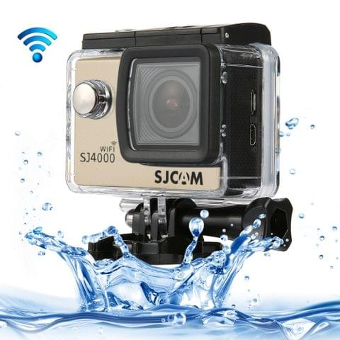 SJCAM SJ4000 WiFi Full HD 1080P 12MP Diving Bicycle Action Camera 30m Waterproof Car DVR Sports DV with Waterproof Case(Gold)