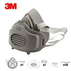 3M 3200 Dust Mask Respirator Half Face Dust-proof Mask Anti Industrial Construction Dust Haze Fog Safety Gas Filter Cotton Cover