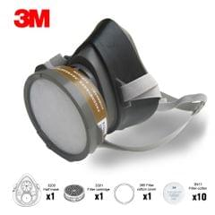 3M 320P Dust Mask Respirator Half Face Dust-proof Mask Anti Industrial Construction Dust Haze Fog Safety Gas Mask