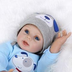 22inch 55cm Reborn Toddler Baby Doll Boy Silicone Body Boneca With Clothes Blue Eyes Lifelike Cute Gifts Toy