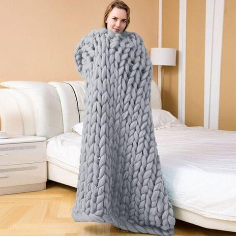 Handwork Wool Sofa Bed Home Air Conditioning Blanket