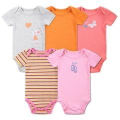 5pcs Baby Rompe Set Bodysuit 100% Cotton Short Sleeve Baby Clothing For Newborn Baby Infant Girl 0-3Months