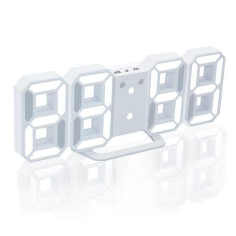 3D LED Digital Clock Glowing Night Mode Brightness