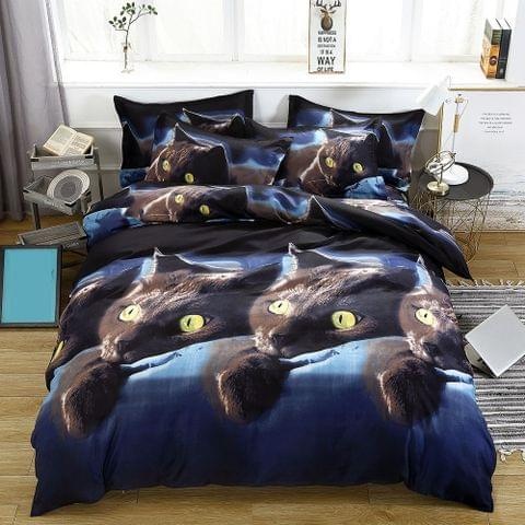 2pcs/set 3D Cat Printed Pattern Duvet Cover(1.5 * 2 mete) with Pillowcase(480 * 740mm)