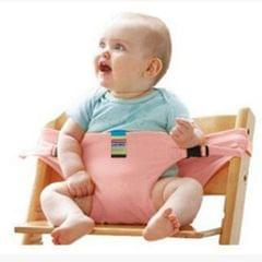 Baby High Chair Harness Portable Safety Belt Cotton Feeding Table Baby Seat Belt Pink