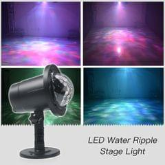 AC100-240V 5W 1 * RGBW LED Water Ripple Effect Stage Light Lawn Lamp Lighting Fixture